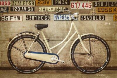 Papiers peints Vendange, dame, Vélo, vieux, usine