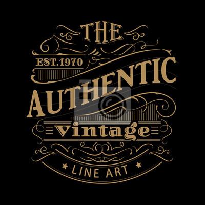Papiers peints Vendange, étiquette, occidental, main, dessiné, antiquité, cadre, typographie ...