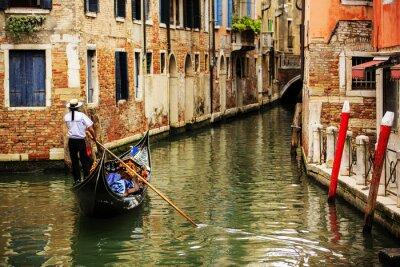 Papiers peints Venise, Italie - Gondolier et immeubles historiques