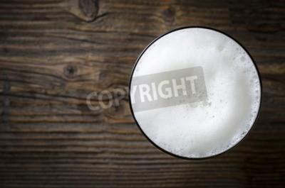 Papiers peints Verre, bière, mousse, bois, table