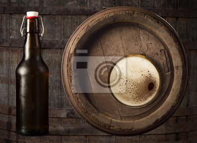 verre de bière vue de dessus