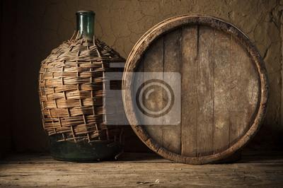 verre de vin sur fond vignoble