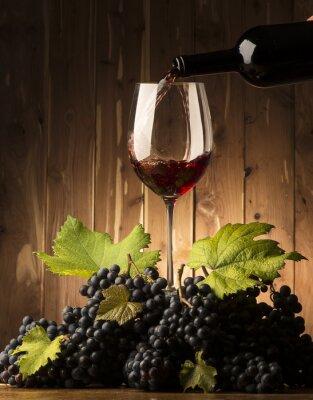 Papiers peints Verre, rouges, vin, grapeson, bois, table