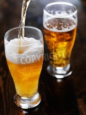 Papiers peints Verser, bière, grand, tasse, ardoise, table