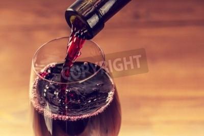 Papiers peints Verser, rouge, vin, verre, contre, bois, fond