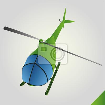 vert isolé jouet hélicoptère à vecteur de vol