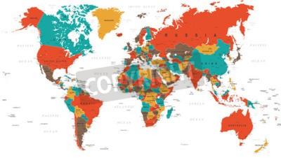 Papiers peints Vert, rouge, jaune, brun, mondiale, carte, frontières, pays, villes