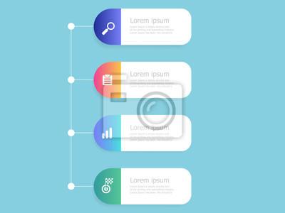Papiers peints vertical timeline infographics 4 steps