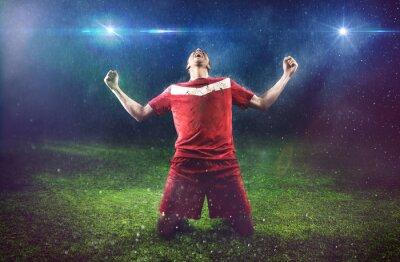 Papiers peints Victorieux Joueur de football
