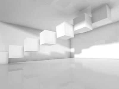 Papiers peints Vide, blanc, architecture, 3, d, Illustration