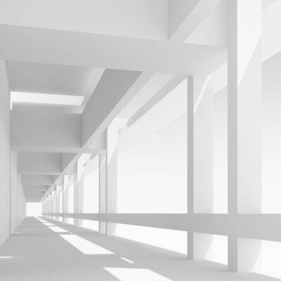 Papiers peints Vide, blanc, corridor, perspective, 3d, illustration
