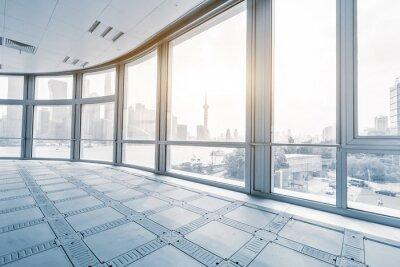 Papiers peints Vide, bureau, salle, moderne, bureau, bâtiments, sunrise