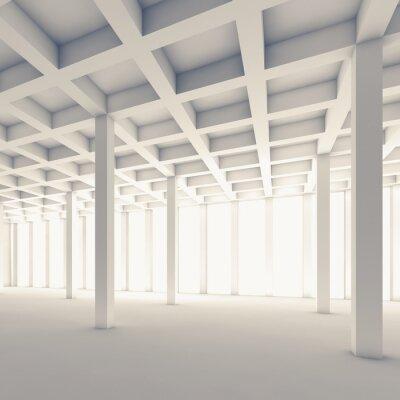 Papiers peints Vide, résumé, salle, carrée, 3D, illustration