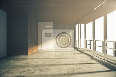 Vide Style Loft Salle Beton Plancher Papier Peint Papiers