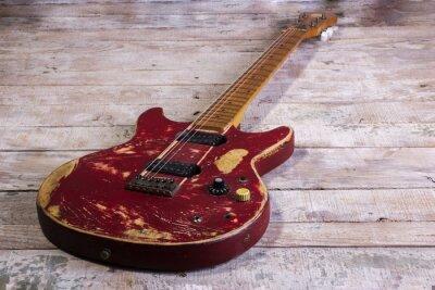 Papiers peints Vieille guitare électrique rouge