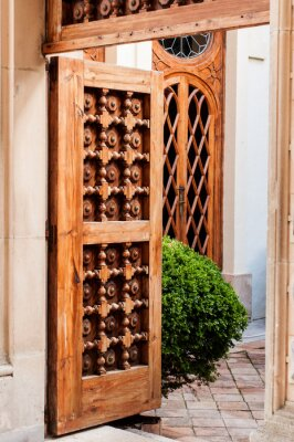 Papiers peints Vieille porte en bois
