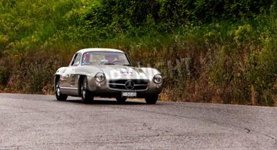 Papiers peints Vieille voiture MERCEDES BENZ 300 SL Coup W 198 1955 2015 mille miles
