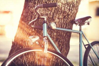 Papiers peints Vieux, bicyclette, penchant, contre, arbre