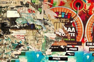 Papiers peints Vieux, Billboard, déchiré, papier, affiches, fond, texture