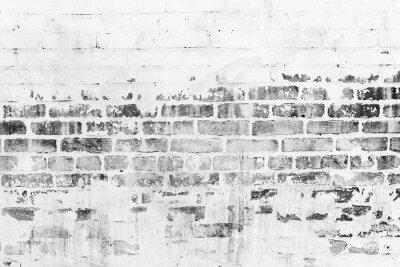 Papiers peints Vieux, brique, mur, endommagé, blanc, peinture, couche