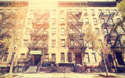 Papiers peints Vieux film photo de style rétro de la rue de New York, USA.