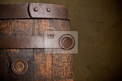 vieux fond vintage - tonneau en bois