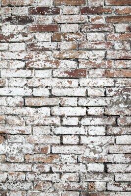 Papiers peints Vieux, grand, rouges, brique, mur, fond, affligé, blanc, peinture