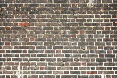 Papiers peints Vieux, gros, endommagé, affligé, rouge, brique, mur, fond
