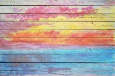Papiers peints Vieux planche de bois en couleurs de l'arc