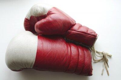 Papiers peints Vieux, rouges, blanc, boxe, gants, lumière, fond