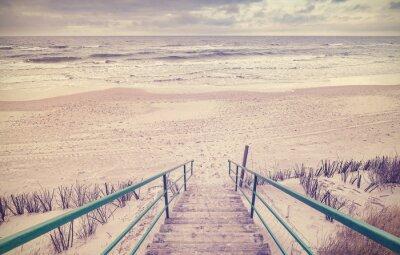 Papiers peints Vieux, tonique, bois, escaliers, plage
