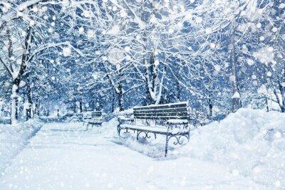 Papiers peints Ville couverte de neige