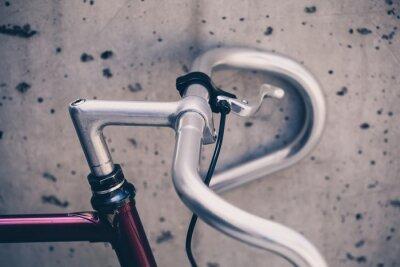Papiers peints Ville, route, bicyclette, guidon, closeup, vendange, style