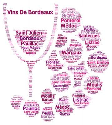 Papiers peints Vin, Bordeaux, mot, nuage