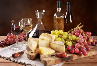 Papiers peints Vin, raisin et fromage