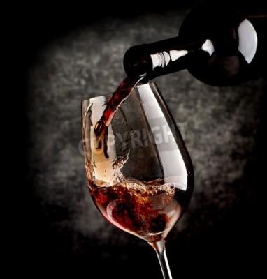 Papiers peints Vin, Verser, verre vin, noir, fond