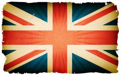 Papiers peints Vintage anglais drapeau fond d'affiche