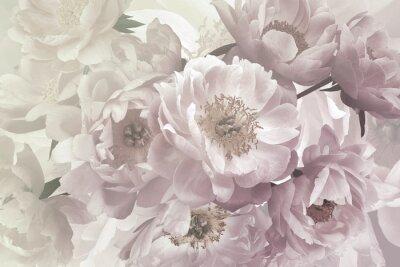 Papiers peints Vintage bouquet of beautiful garden flowers peonies. Pastel colors.
