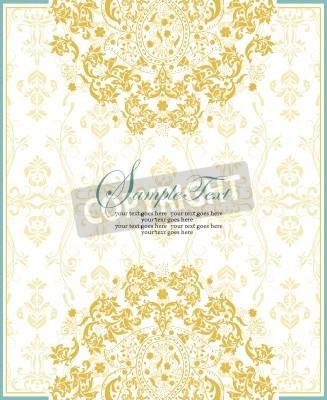 Vintage Carton Dinvitation Avec Un Elegant Design Floral Abstrait