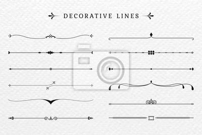 Papiers peints Vintage decorative lines collection