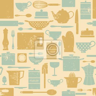 Vintage fond de cuisine
