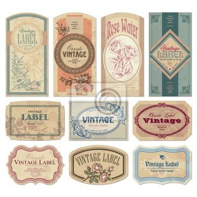 Papiers peints Vintage labels set (vecteur)