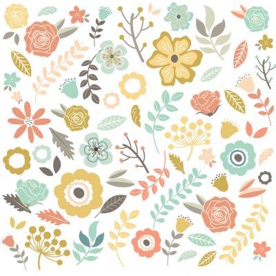Papiers peints Vintage main tiré fleurs fond