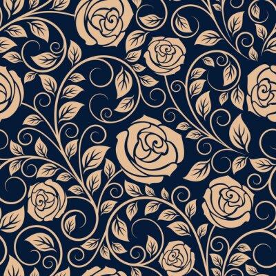 Papiers peints Vintage Roses fleurs seamless