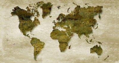 Papiers peints Vintage sepia world map background