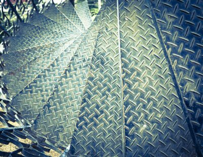 Papiers peints Vintage tone spiral iron staircase background
