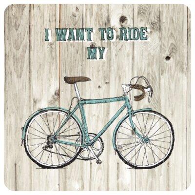 Papiers peints Vintage vélo affiche tirée par la main