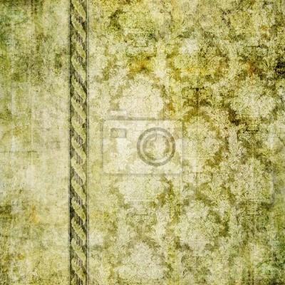 Vintage Vert Wallpaer Papier Peint Papiers Peints Elime Papeterie