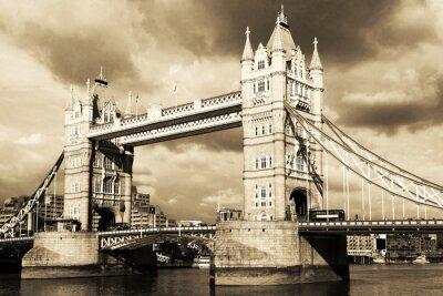 Papiers peints Vintage vue de Tower Bridge, à Londres. Sépia.