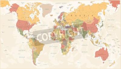 Papiers peints Vintage World Map - Detailed Vector Illustration